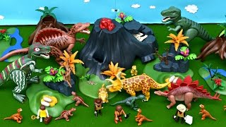Dinosaur Playmobil Collection Vulcano Eruption Lava Dinosaurs Toy T Rex Spinosaurus Stegosaurus