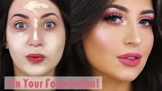 How To: Fix your Fondation in a Minute! + Flawless Skin Makeup Tutorial | Melissa Samways