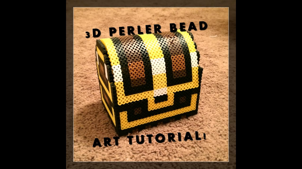 3d perler bead zelda treasure chest youtube