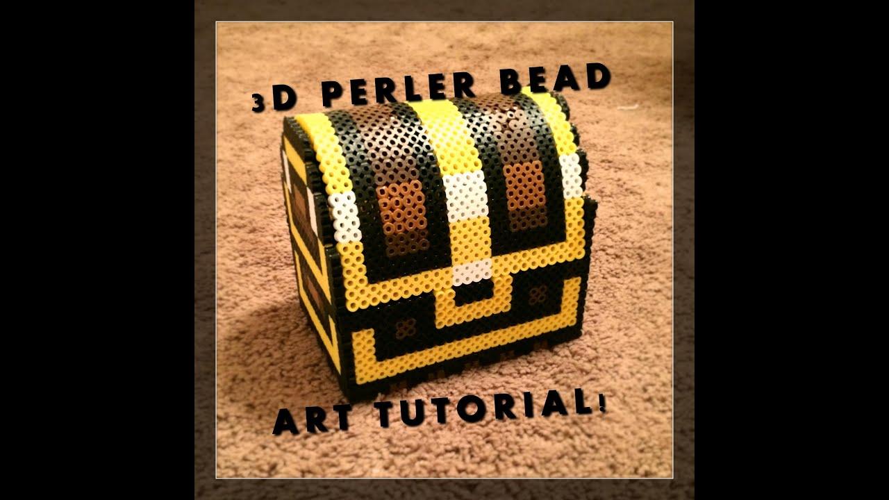 3d Perler Bead Zelda Treasure Chest Youtube