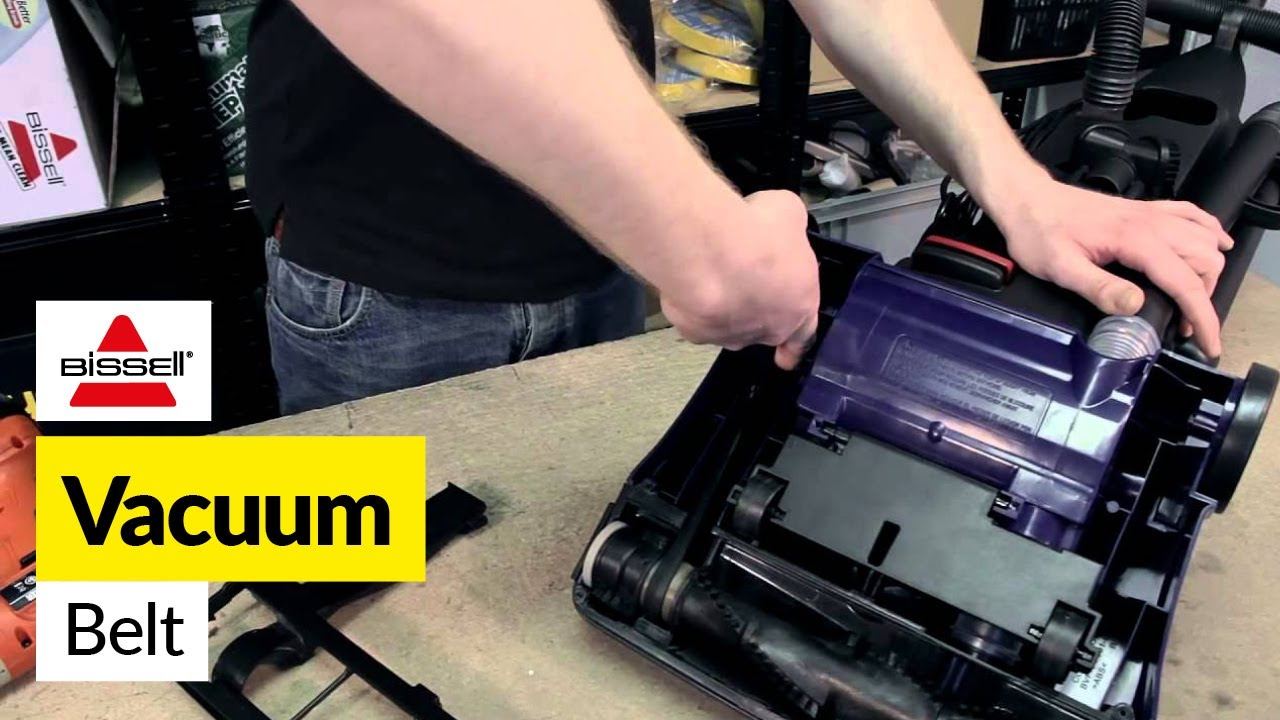 how to replace the belt on a bissell powerforce bagless vacuum cleaner [ 1280 x 720 Pixel ]