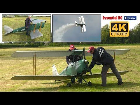 GIANT 50% SCALE RC De Havilland TIGER MOTH BIPLANE [*UltraHD And 4K*]