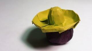 paper Hat - Origami Sombrero Hat tutorial - DIY (Henry Phm)
