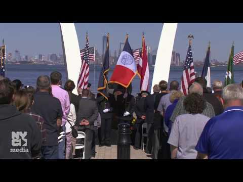 Mayor de Blasio Attends September 11th Memorial Dedication Ceremony