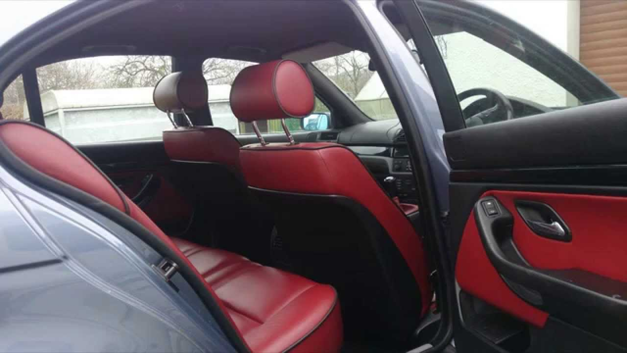 bmw 5 series red leather interior