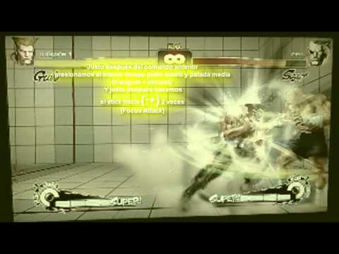 Tutorial Combo Guile Super Street Fighter IV PS3