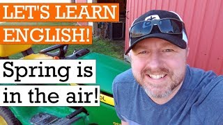 It's Spring! Let's Learn English Outside! An English Lesson about the Season of Spring