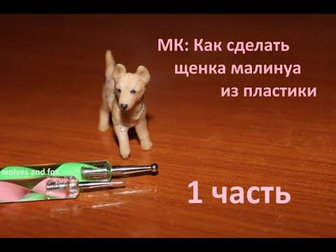 МК: Как сделать щенка малинуа из полимерной глины/пластики 1 ЧАСТЬ