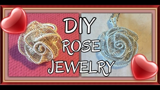 Wire Wrapped Rose - Watch Me Make It!
