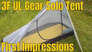 First Impressions Of The 3F UL Gear Solo Ultralight Tent