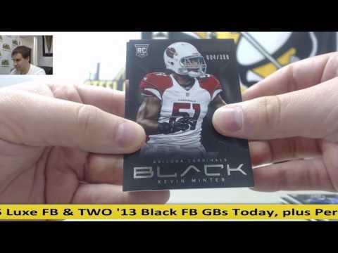 2013 Panini Black FB 5-Box Case Random Dual Team GB- Rick Mirer Jersey