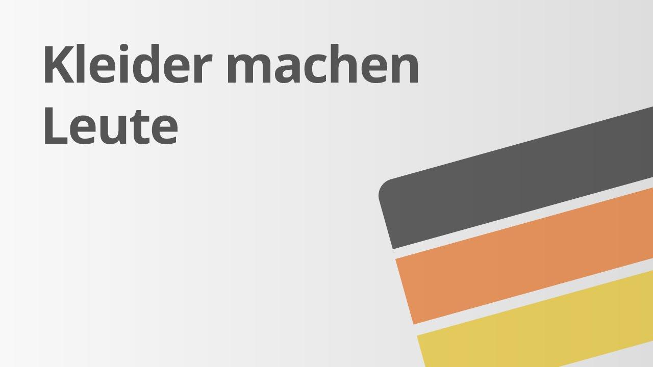 aufbau novelle: kleider machen leute | deutsch | textanalyse und  -interpretation