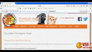 Заказ бесплатного пробника корма для животных