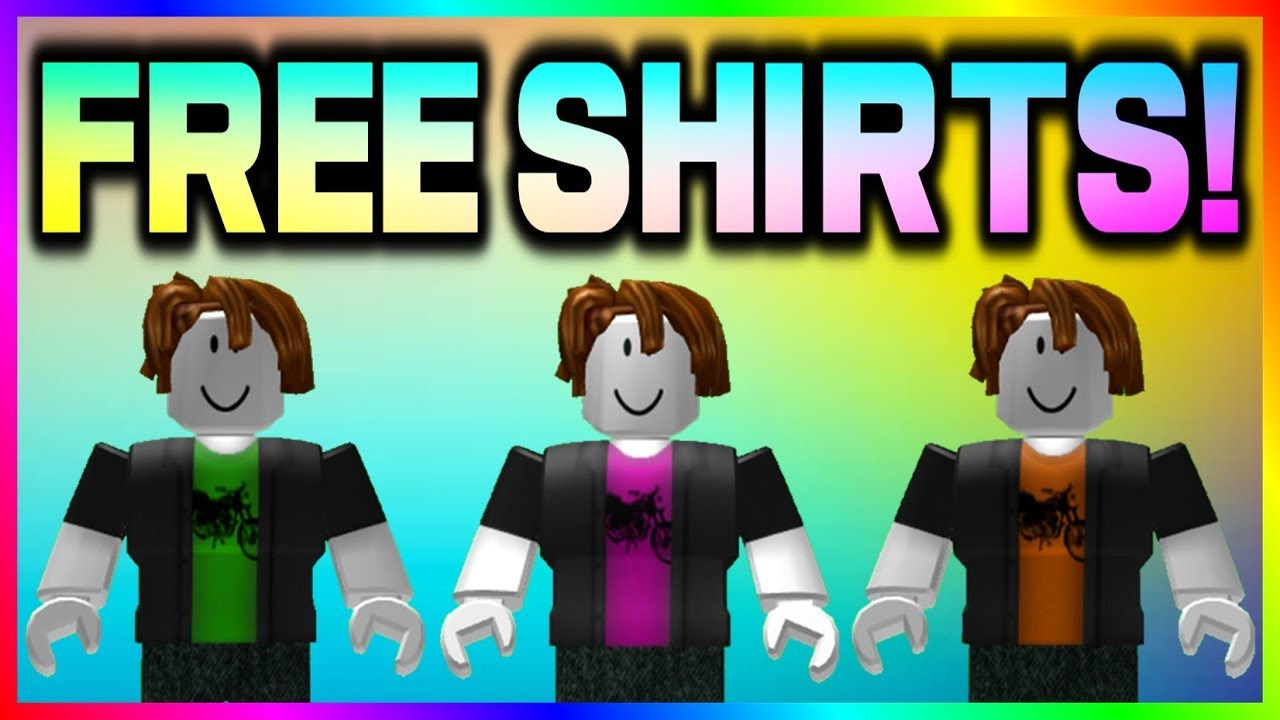 how to create free shirts roblox