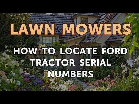 Ford Tractor Serial Numbers