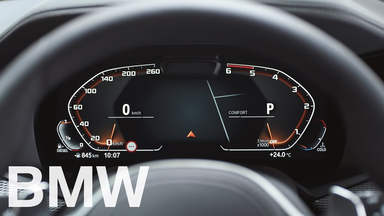 2018 BMW 3 Series >> The new fully digital Instrument Cluster - Operating System 7 - BMW How-To - YouTube