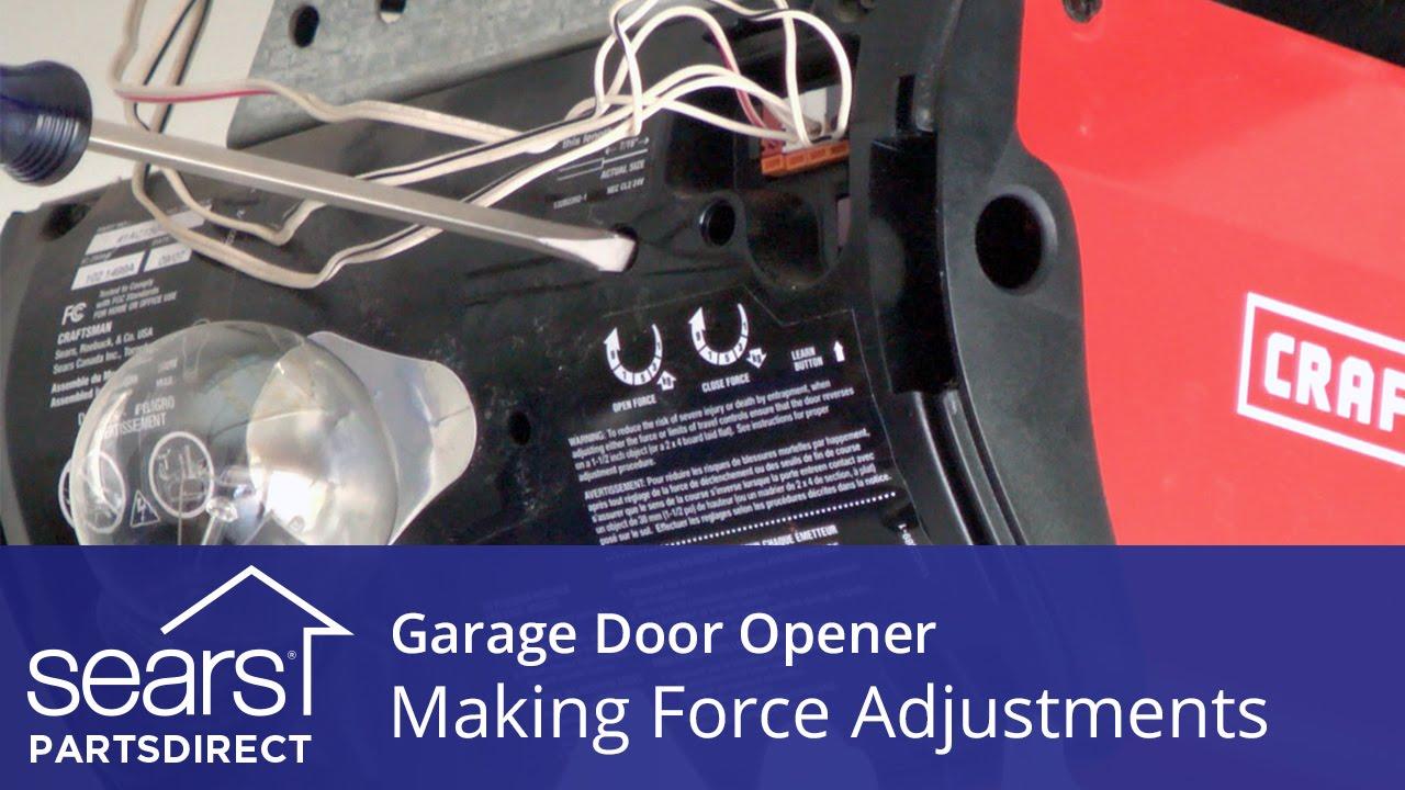 garage door won t open or close force adjustments sears partsdirect [ 1280 x 720 Pixel ]
