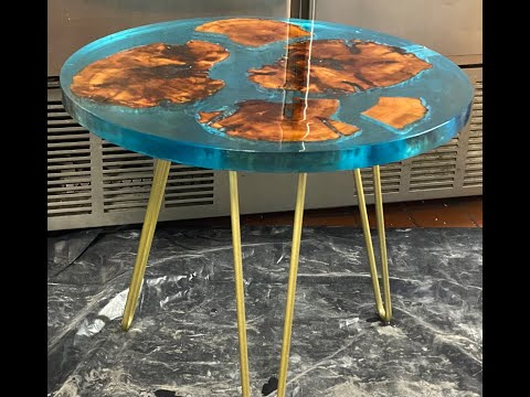 Epoxy Coffee Table / DIY Epoxy Resin Coffee Table / How To Woodworking / Epoksi Sehpa Yapımı.