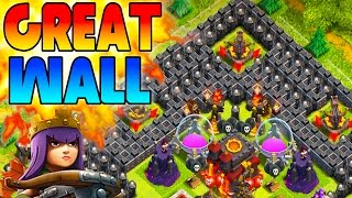 "CLASH OF CLANS-THE GREAT WALL OF TROLLING ""SEXY FUNNY MOMENTS+TOWN HALL 10 MAX LVL TROOP FAILS""(NEW)"