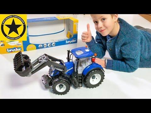 bruder tractor new holland neuheit 2018 youtube. Black Bedroom Furniture Sets. Home Design Ideas