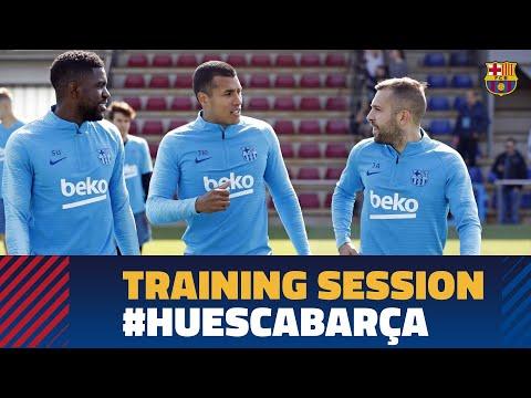 Last session before #HuescaBarça