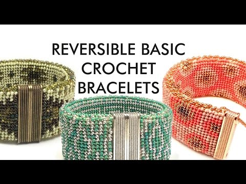 ... Reversible Bracelet in simple traditional crochet stitches - YouTube