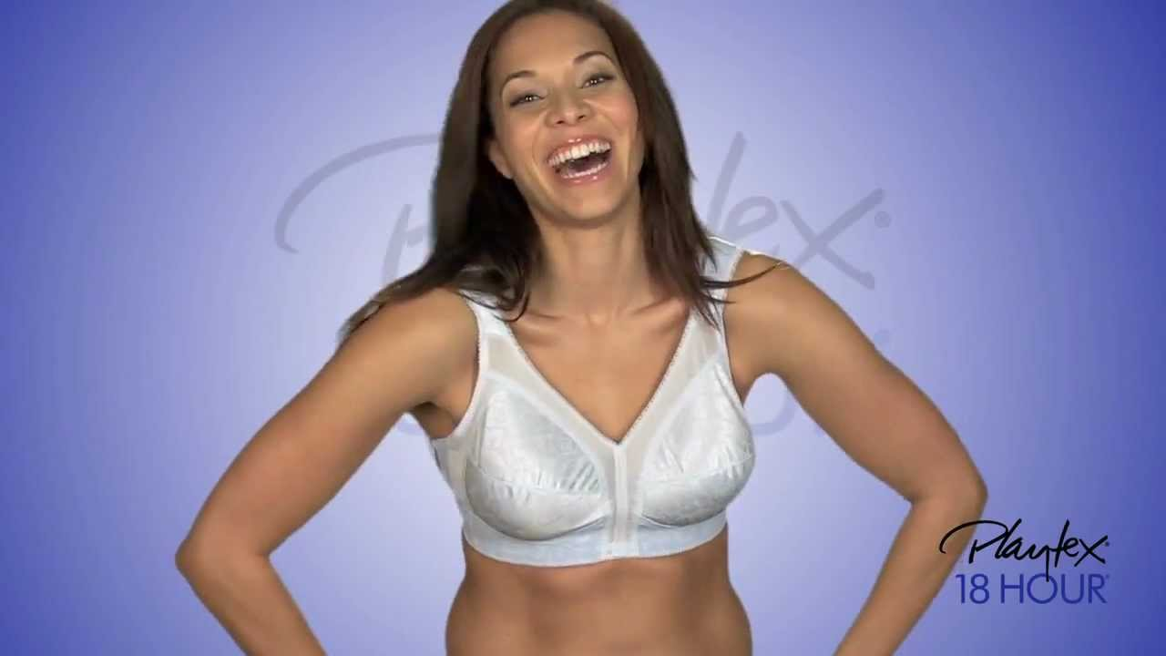 f0fe61ce2 Playtex® 18 Hour® Original Comfort Strap® Wirefree Bra 4693 - YouTube