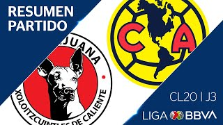 Resumen | Xolos vs America | Jornada 3 - Clausura 2020 |Liga BBVA MX