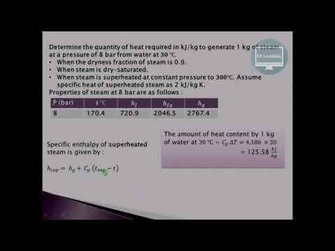 Solved examples on properties of steam & dryness fraction rklearning