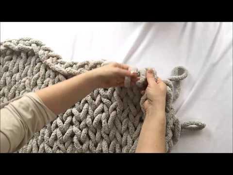 hand-knit-chunky-chenille-blanket-40x60,-becozi---10%-off
