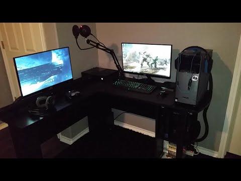 2016 GAMING SETUP VIDEO! (L-Shaped Desk Setup)
