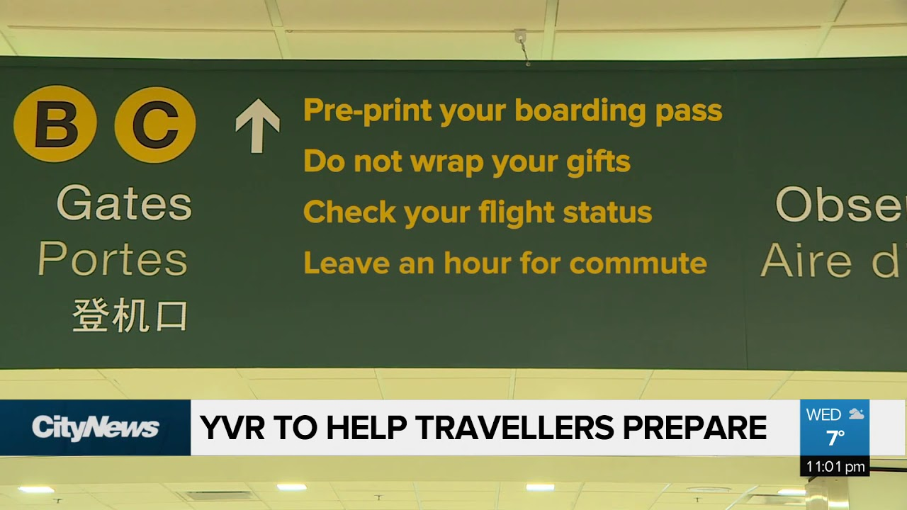 Holiday Rush Arrives At Yvr Youtube