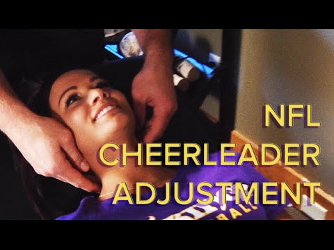 Chiropractic Neck and Spinal Adjustment Of An NFL Cheerleader