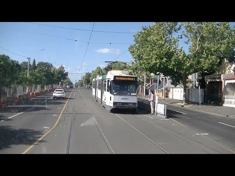 Driver's View Tram Route 1 Melbourne University To East Coburg