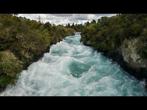 Fast water - Huka Falls. New Zealand, North Island