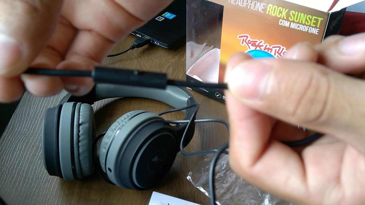 ef30453f78a HEADPHONE AQUARIUS ROCK SUNSET (ROCK IN RIO) - Review e Umboxing ...