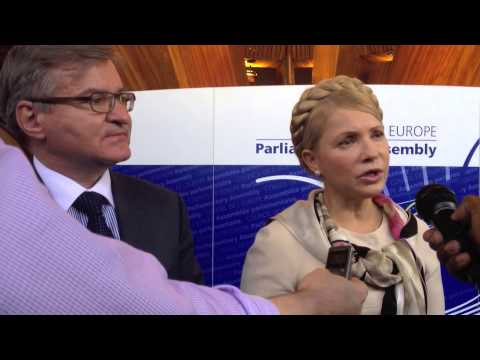 Yulia Tymoshenko speaks to media at Council of Europe: 29/9/2014