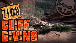 Zion Cliff Diving