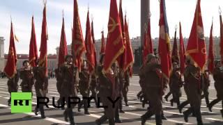 В Санкт-Петербурге прошла репетиция парада Победы с техникой