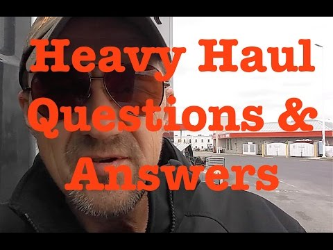 Heavy Haul TV: Questions and Answers
