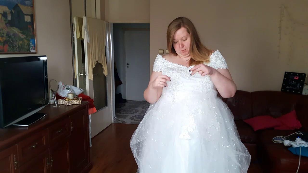 Bonus Przymierzamy Suknia ślubna Plus Size Aliexpress Youtube