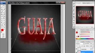 tutorial photoshop letras sangrientas por 0o0guajita0o0