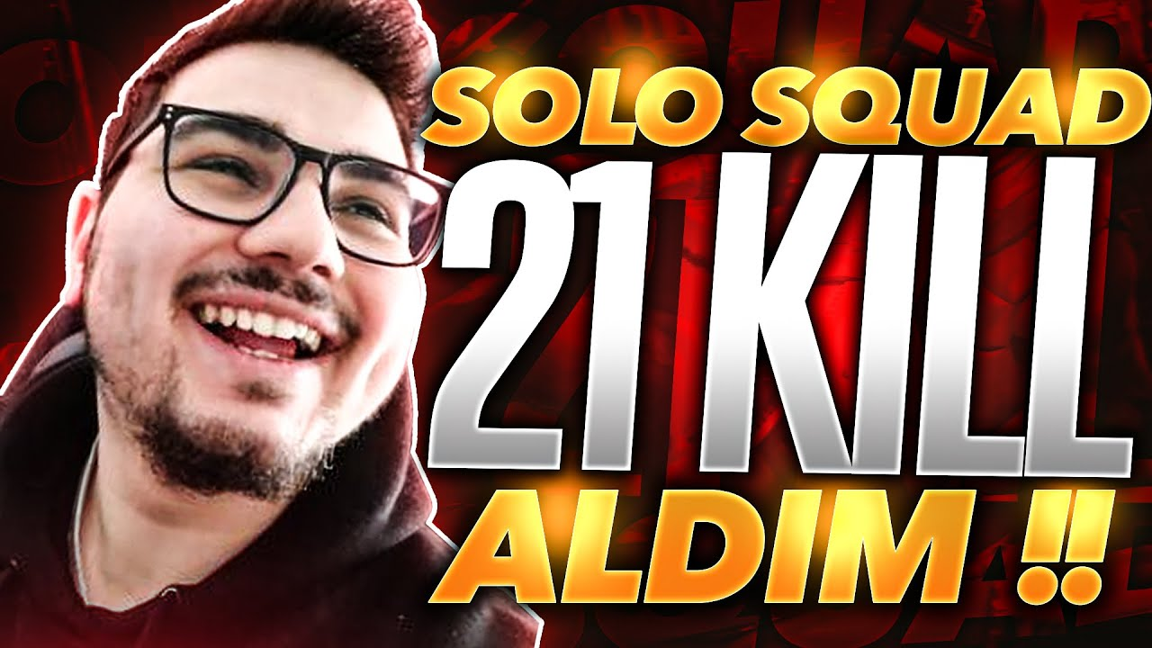 TEK BASIMA 21 KILL ALDIM!!! SOLO SQUAD // FORTNITE BATTLE ROYALE TURKCE