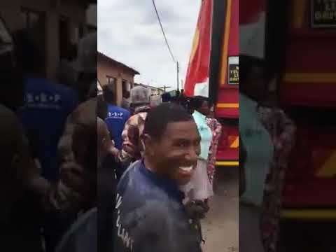 stealing from a delivery truck in south africa