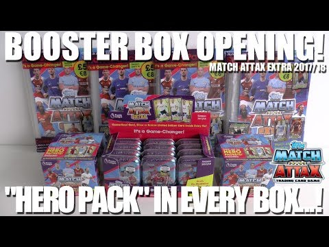 ⚽ COMPLETE BOOSTER BOX OPENING with HERO PACK !! | Match Attax EXTRA 2017-18  ⚽ 5x LIMITED EDITIONS!