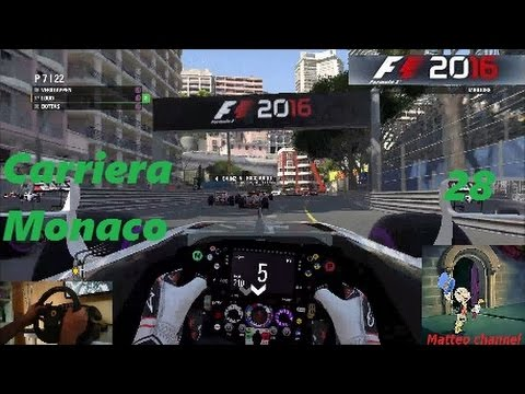 F1 2016  Pc Gameplay ITA T500RS  Carriera 28 Monaco Motore rotto all'ultimo giro!!!!!