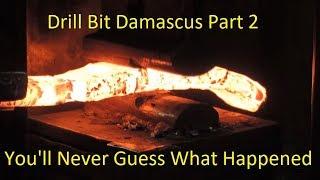 Blacksmithing-Drill Bit Damascus WINNER!!!
