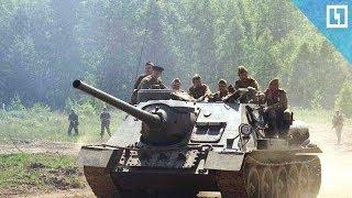 Бои самолетов и танков:
