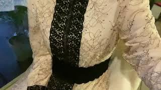 래이스나염배색롱원피스 착용1