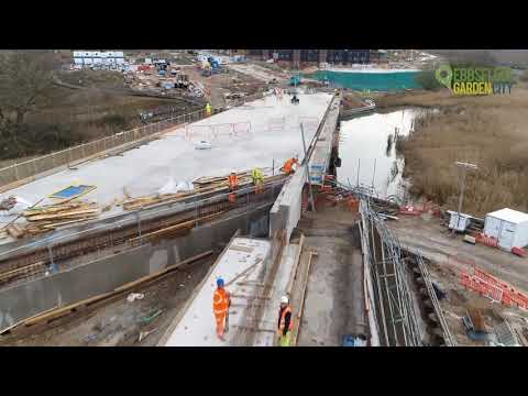 See how our Springhead Bridge in Ebbsfleet Garden City was built from start to finish